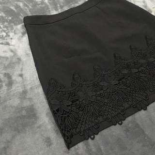 A-line with Lace Detail Skirt