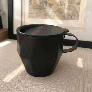 全新星巴克Starbucks雙層不鏽鋼烤漆黑馬克杯