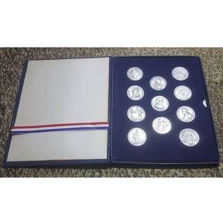 1973 US Mint America's First Medals U.S. Mint Complete Pewter Set 11-pieces