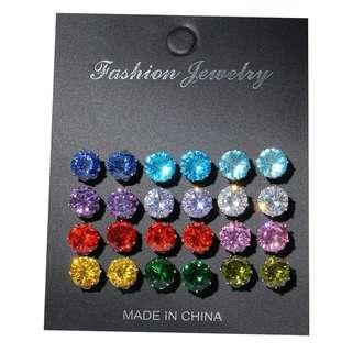 Stud Earring(12 pairs)