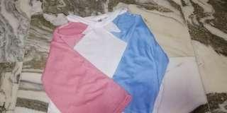 blue pink trendy top ulzzang