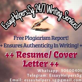 Resume/Cover Letter Writing Service