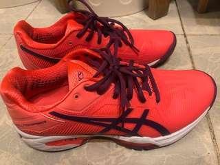 Asics 網球鞋 orange/purple euro 39