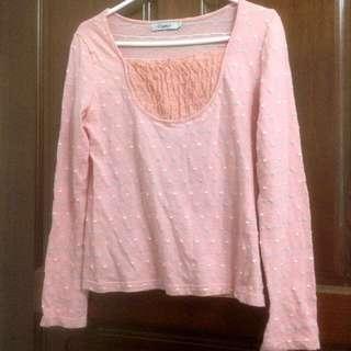 🚚 百貨專櫃Lace棉質長袖上衣