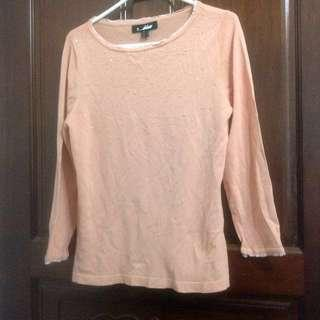 🚚 百貨專櫃Jin縫珠長袖針織衫L號