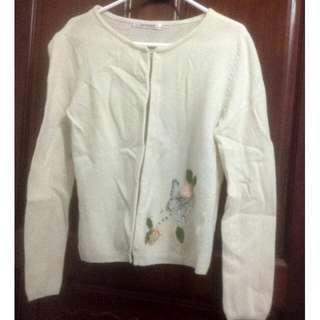🚚 百貨專櫃H2O純羊毛針織罩衫