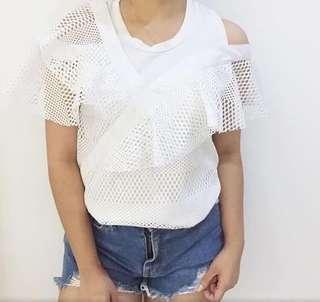 SALE! White assymetrical top