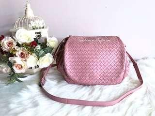 Bottega Veneta Intrecciato Flap Messenger Bag