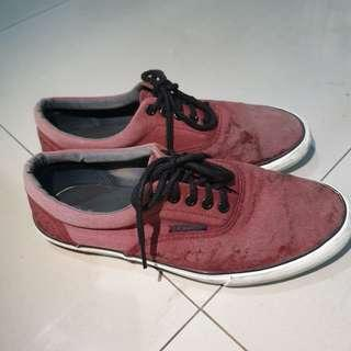 [ORI] Sepatu Pria Sneakers Airwalk Merah Maroon - Bekas / Second - Men Shoes