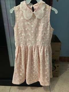 PRELOVED pink lace dress