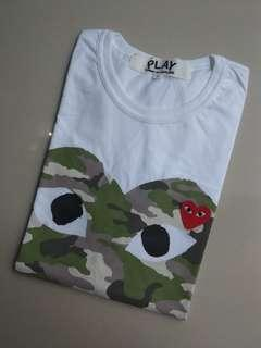 T-shirts play camo with heart