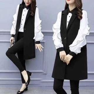 Korean 2in1 casual formal outfit