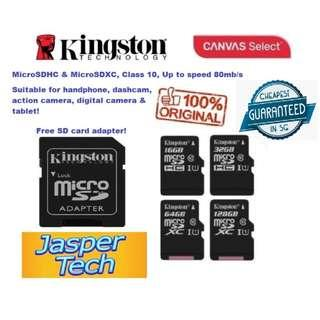 🚚 Kingston Micro SD Card 16, 32, 64, 128GB