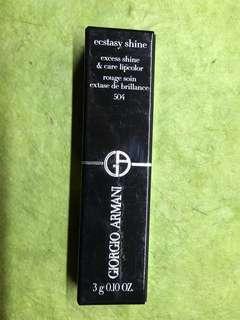 🚚 全新 Giorgio Armani 唇膏 ga 口紅 504 奢華訂製緞光水唇膏 Ecstasy shine
