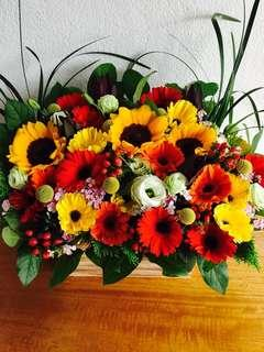 Sunflower Gerbera Table Flower Arrangement