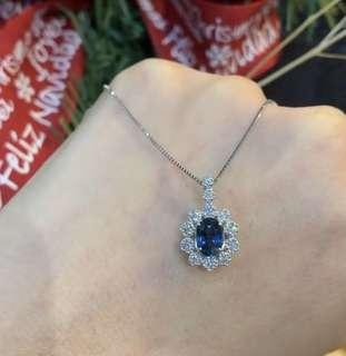 🚚 Sapphire with natural earth-mined diamonds