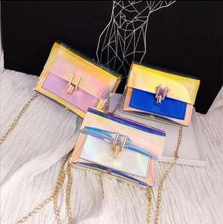 🚚 PO: Holographic Sling Bag