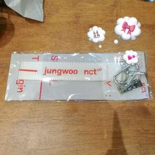 NCT127 OFFICIAL JUNGWOO NAME TAG