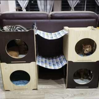 🚚 Available! Stackable Cat Bed with hammock