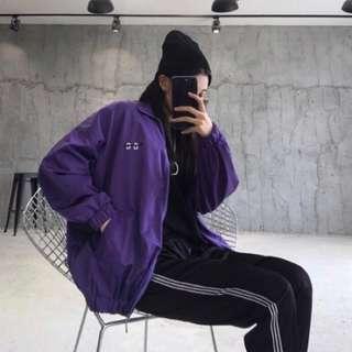 🚚 紫色 教練外套 熱賣款 防風外套 保暖 原宿風 好搭好穿