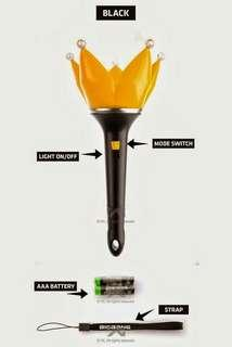 BIGBANG OFFICIAL LIGHTSTICK FULL SET BLACK