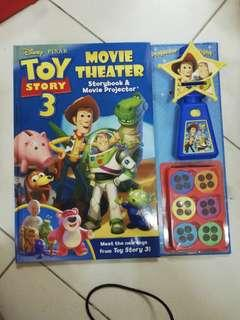 Children Book - toys story 3 (storybook & movie projector)