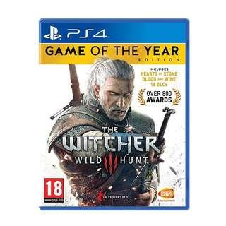 PS4 Witcher 3