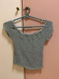 MDS Off Shoulder Crop Top