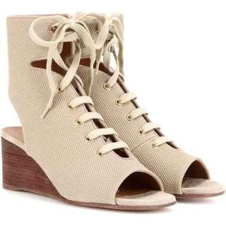 Chloe Ghillie lace-up wedge sandals NEW
