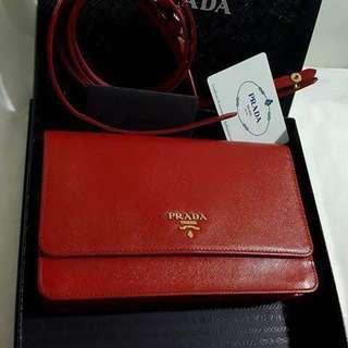Original Prada flap shoulder bag / wallet