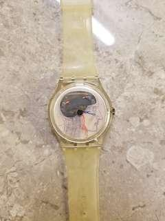 Swatch  手錶 Jo Whaley Ticking Brain limited edition