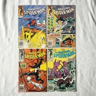 Lot Sale: 4 x The Amazing Spider-Man (Marvel) 1985-1987 - #267, #272, #291, #292