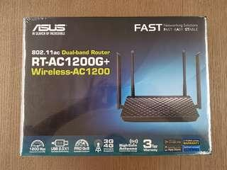 🚚 Asus dual band router wireless RT-AC1200G+