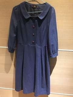 🚚 芃諭7分袖毛料洋裝