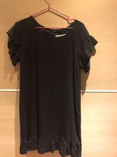 🚚 Ef-de黑色花邊洋裝
