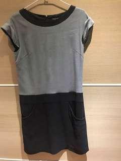 🚚 INDIVI毛料洋裝38OL洋裝