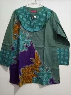 SALE! Batik blouse ijo