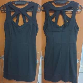 Dress hitam stretch
