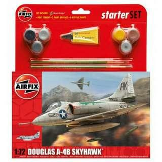 A-4B Skyhawk Model Kit 72 Scale By Airfix Starter Set With Paint And Brush  Brand New