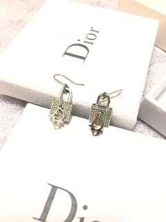 Dior earring 耳環 鎖頭 lock CD