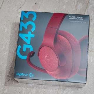 Logitech G433 Headphones - Red
