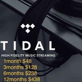 Tidal Hifi Music Account 1-12months