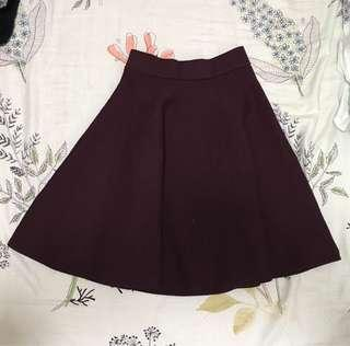 Izzue 厚身針織扇型裙
