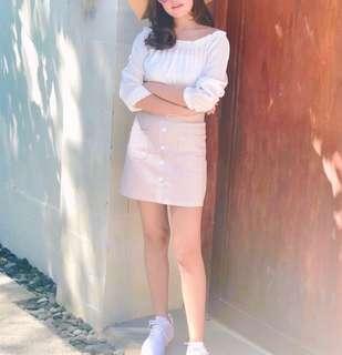 Softpink Button skirt