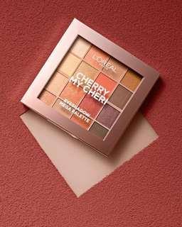 现货+代购 L'Oréal 16色眼影盘 L'Oreal Paris Paradise Pastel Eyeshadow Palette Cherry