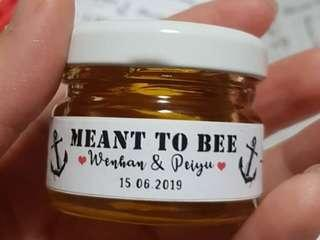Customised Mini Honey/Jam Wedding Favours