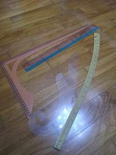 Pattern making Rulers Tailor Chalk