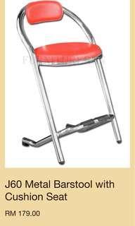Price reduce J60 Metal Barstool with Cushion Seat