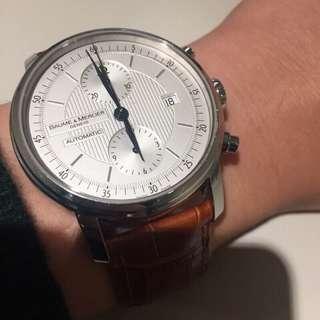 🚚 Baume&Mercier名仕錶 計時三環自動上鍊機械錶 Tissot Cartier IWC Seiko Oris Mido Rolex Panerai