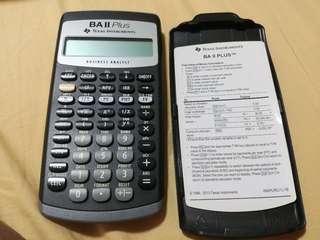 Texas BA II plus financial calculator